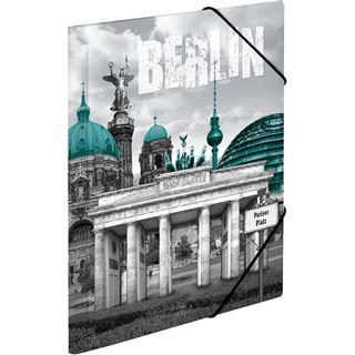 """Herma Eckspannermappe """"Trendmetropolen Berlin"""", PP, A4"""