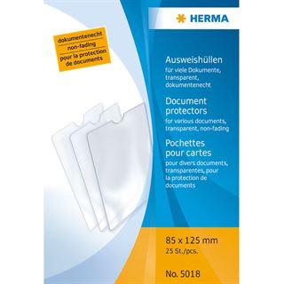 Herma Ausweishülle, PP, 1-fach, 0,14 mm, Format: 85 x 125 mm