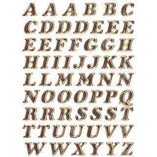 Herma Buchstaben-Sticker A-Z, Prismaticfolie, gold, 8 mm