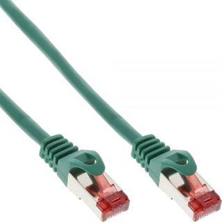(€4,90*/1m) 1.00m InLine Cat. 6 Patchkabel S/FTP PiMF RJ45 Stecker auf RJ45 Stecker Grün halogenfrei