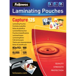 Fellowes Laminierfolientasche, 83 x 113 mm, 250 mic