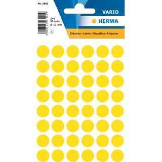 Herma Markierungspunkte, Durchmesser: 12 mm, gelb