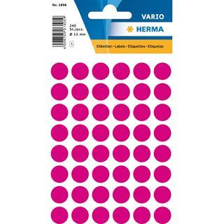 Herma Markierungspunkte, Durchmesser: 12 mm, pink