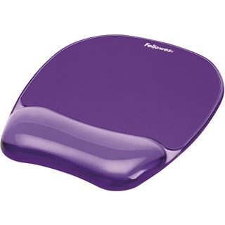 Fellowes GmbH Handgelenkauflage Crystals Gel mit Maus Pad,violett