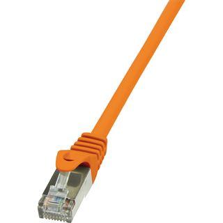 (€1,63*/1m) 3.00m LogiLink Cat. 6 Patchkabel F/UTP RJ45 Stecker auf RJ45 Stecker Orange vergoldet