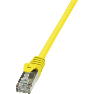 (€0,92*/1m) 7.50m LogiLink Cat. 6 Patchkabel F/UTP RJ45 Stecker auf RJ45 Stecker Gelb vergoldet