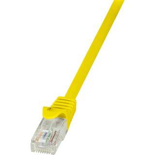 (€7,80*/1m) 0.50m LogiLink Cat. 5e Patchkabel U/UTP RJ45 Stecker auf RJ45 Stecker Gelb Polybag / ungeschirmt