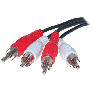 (€3,27*/1m) 1.50m ShiverPeaks Audio Anschlusskabel 2xCinch Stecker auf 2xCinch Stecker Schwarz vernickelt