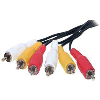 (€3,27*/1m) 1.50m ShiverPeaks Audio/Video Anschlusskabel 3xCinch Stecker auf 3xCinch Stecker Schwarz vernickelt