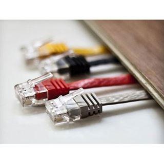 (€0,92*/1m) 7.50m ShiverPeaks Cat. 6 Anschlusskabel U/UTP RJ45 Stecker auf RJ45 Buchse Weiß Slim