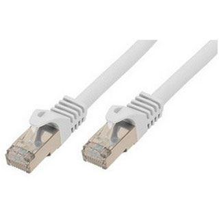 0.25m ShiverPeaks Cat. 7 Patchkabel S/FTP PiMF RJ45 Stecker auf RJ45 Stecker Weiß halogenfrei / vergoldet