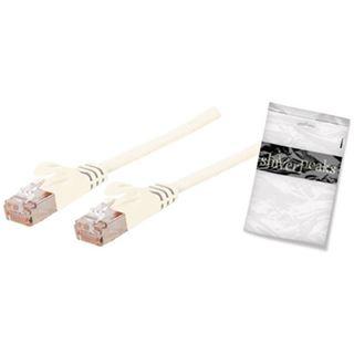 (€4,90*/1m) 1.00m ShiverPeaks Cat. 7 Anschlusskabel U/FTP RJ45 Stecker auf RJ45 Stecker Weiß flach