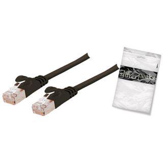 7.50m ShiverPeaks Cat. 7 Anschlusskabel U/FTP RJ45 Stecker auf RJ45 Stecker Schwarz flach