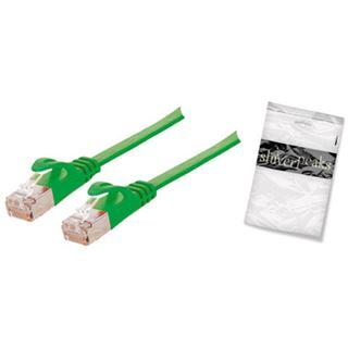(€0,79*/1m) 15.00m ShiverPeaks Cat. 7 Anschlusskabel U/FTP RJ45 Stecker auf RJ45 Stecker Grün flach
