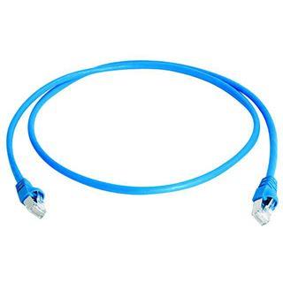 (€3,56*/1m) 2.50m Telegärtner Cat. 6a Patchkabel S/FTP PiMF RJ45 Stecker auf RJ45 Stecker Blau halogenfrei / Knickschutzelement