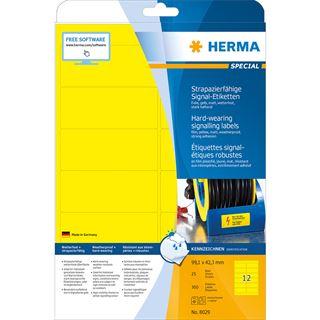 HERMA Signal-Etiketten SPECIAL, 99,1 x 42,3 mm, gelb