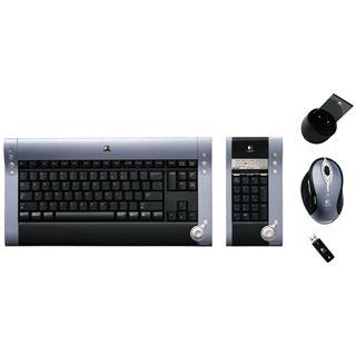 Logitech diNovo Media Desktop Laser USB + Maus (DE) schwarz/silber