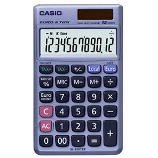 Casio Taschenrechner SL-320 TER+, Solar-/Batteriebetrieb