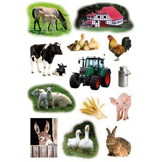 """HERMA Sticker DECOR """"Bauernhoftiere Foto"""""""