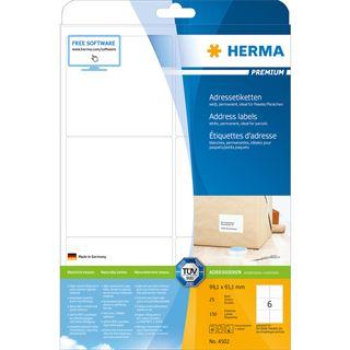 HERMA Universal-Etiketten PREMIUM, 99,1 x 93,1 mm, weiß
