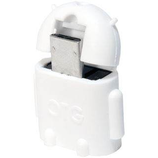 LogiLink USB 2.0 OTG Adapter, weiß