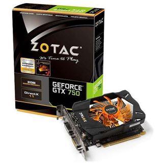 2GB ZOTAC GeForce GTX 750 Aktiv PCIe 3.0 x16 (Bulk)