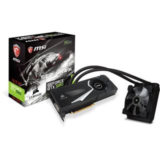 8GB MSI GeForce GTX 1080 SEA HAWK X Wasser PCIe 3.0 x16 (Retail)
