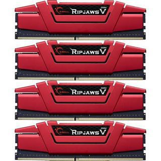 32GB G.Skill RipJaws V rot DDR4-3000 DIMM CL15 Quad Kit