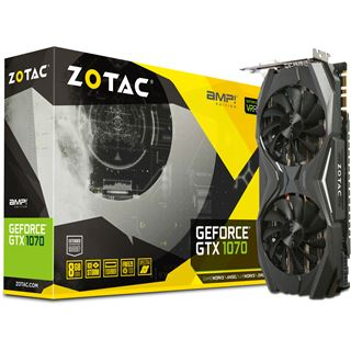 8192MB ZOTAC GeForce GTX 1070 AMP! Edition Aktiv PCIe 3.0 x16 (Retail)