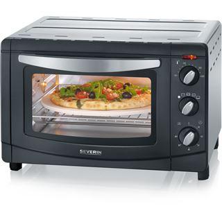 SEVERIN Back-und Toastofen 1500W 20L sw/si Umluftfunktion,Drehspieß,Pizzastein