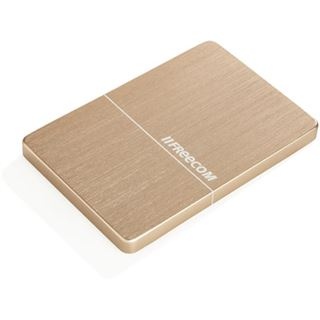 """1000GB Freecom Mobile Drive Metal Slim 56371 2.5"""" (6.4cm) USB 3.0 gold"""