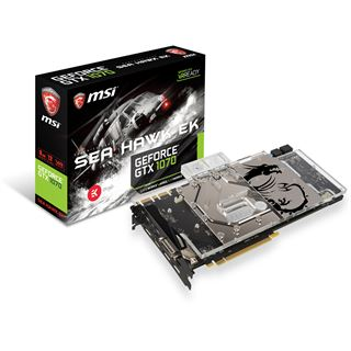 8GB MSI GeForce GTX 1070 SEA HAWK EK X Wasser PCIe 3.0 x16 (Retail)