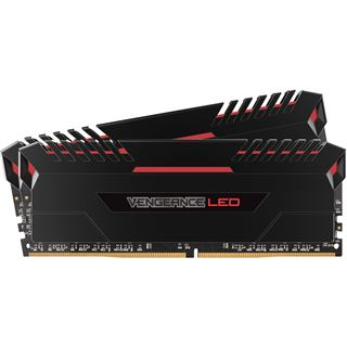 32GB Corsair Vengeance LED rot DDR4-2666 DIMM CL16 Dual Kit