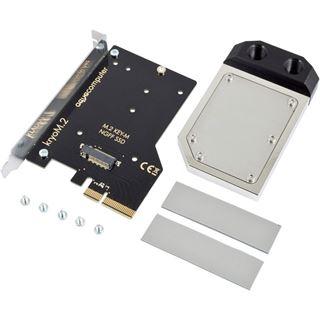 aqua computer kryoM.2 PCIe 3.0 x4 SSD-Adapterkarte mit Wakü, vernickelt