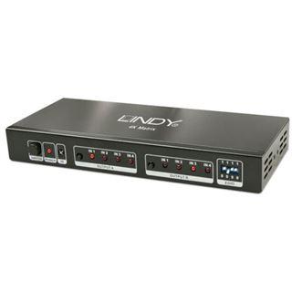 Lindy HDMI 4K UHD 4x2 Matrix, 4 In 2 Out, HDMI 1.4 (V.2)