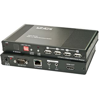 Lindy HDMI & USB over Gigabit, Receiver HDMI 1.4 USB KVM