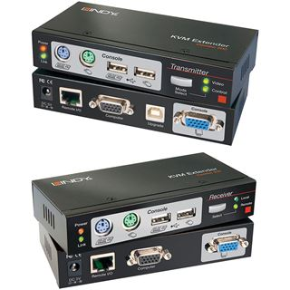 Lindy Ca5 KVM Extend Combo mit KVM Switches USB-PS/2 VGA bis 300m