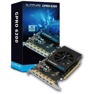 4096MB Sapphire GPRO 6200 Aktiv PCIe 3.0 x16 (Retail)