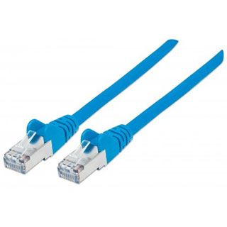 (€5,45*/1m) 2.00m Intellinet Cat. 6 Patchkabel S/FTP PiMF RJ45 Stecker auf RJ45 Stecker Blau halogenfrei / vergoldet