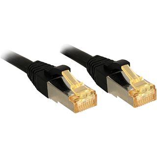 (€2,97*/1m) 3.00m Lindy Cat. 7 Patchkabel S/FTP PiMF RJ45 Stecker auf RJ45 Stecker Schwarz Klinkenschutz / vergoldet