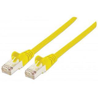 (€5,45*/1m) 2.00m Intellinet Cat. 6 Patchkabel S/FTP PiMF RJ45 Stecker auf RJ45 Stecker Gelb halogenfrei / vergoldet