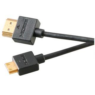 (€6,45*/1m) 2.00m Akasa miniHDMI Anschlusskabel Mini HDMI Stecker auf Mini HDMI Stecker Schwarz 4K / Slim