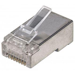 Intellinet Modularstecker , RJ45,Cat5e, STP, 3-Punkt,100 Stk.