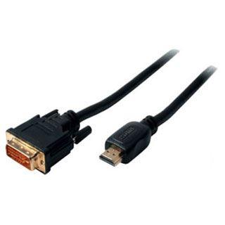 (€0,99*/1m) 10.00m ShiverPeaks HDMI Anschlusskabel HDMI-Stecker auf DVI 12+5 Stecker Schwarz vergoldet