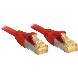 (€19,80*/1m) 0.50m Lindy Cat. 7 Patchkabel S/FTP RJ45 Stecker auf RJ45 Stecker Rot Klinkenschutz / LSOH