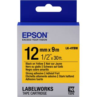 Epson Cartridge LK4YBW STRNG ADH BLK/