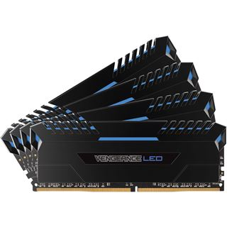 64GB Corsair Vengeance LED blau DDR4-3200 DIMM CL16 Quad Kit