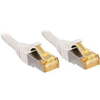 (€2,89*/1m) 10.00m Lindy Cat. 7 Patchkabel S/FTP PiMF RJ45 Stecker auf RJ45 Stecker Weiß LSOH