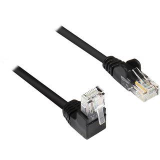 (€15,60*/1m) 0.25m Good Connections Cat. 5e Patchkabel U/UTP RJ45 Stecker auf RJ45 Stecker Schwarz Knickschutzelement / Twisted Pair
