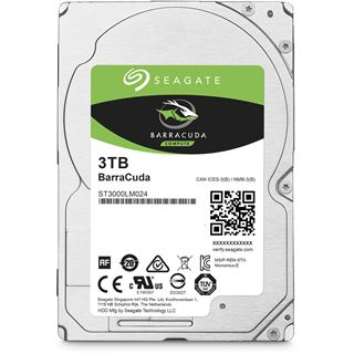 "3000GB Seagate BarraCuda ST3000LM024 128MB 2.5"" (6.4cm) SATA 6Gb/s"